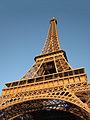 Eiffel Tower from immediately beside it, Paris May 2008.jpg