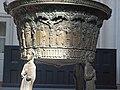 Eilsum church baptismal font east side.jpg