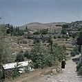 Ein Kerem Hellende weg die naar het dorpscentrum met de kerk van de Visitatie l, Bestanddeelnr 255-9211.jpg