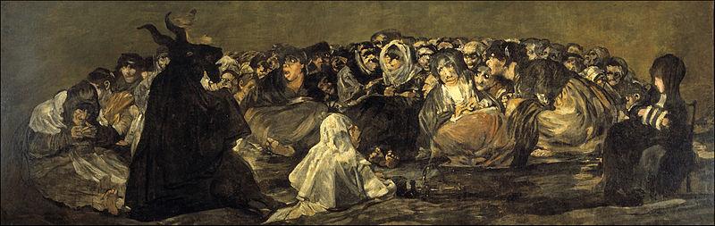 Aquelarre de brujas y el demonio Asmodeo