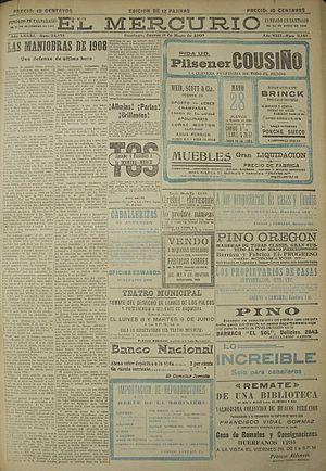 El Mercurio - Image: El Mercurio 28 de mayo de 1908