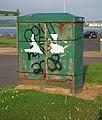 Electricity box, Bangor - geograph.org.uk - 1875113.jpg