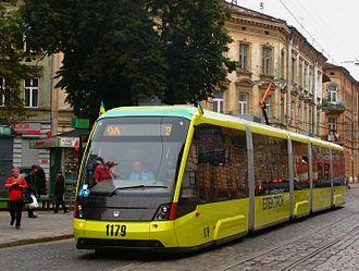 Economy of Ukraine - The modern tram Electron T5L64