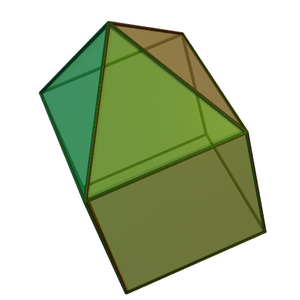 Enneahedron - Image: Elongated square pyramid