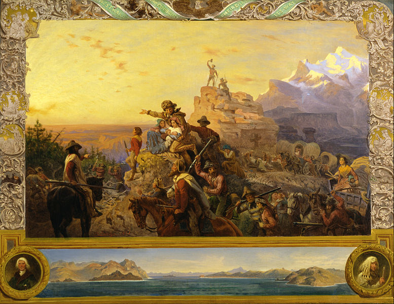 File:Emanuel Gottlieb Leutze - Westward the Course of Empire Takes Its Way (mural study, U.S. Capitol) - Google Art Project.jpg