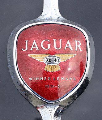 Jaguar XK140 - Boot emblem