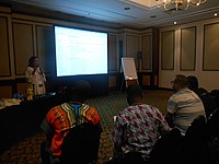 Emna at the African Meetup at Wikimania 2018 (02).jpg