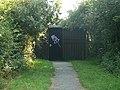Entrance to the Wildlife Pool hide - geograph.org.uk - 1463237.jpg