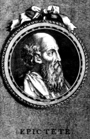 Epictetus - An eighteenth century engraving of Epictetus