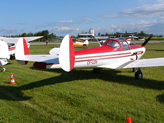 ERCO Ercoupe - An Erco 415 Ercoupe showing its double tail configuration