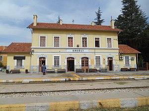 Ereğli railway station - Image: Ereğli Gar View from South II