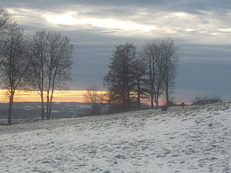 Giou-de-Mamou - Winter landscape,Espériès, Giou de Mamou, Cantal