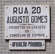 Espinho placa Rua 20.jpg