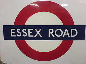 Essex Road railway station - Image: Essex Road roundel