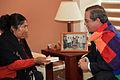 Esther Morales, hermana del presidente de Bolivia Evo Morales se reunió con el Canciller Ricardo Patiño (8001318907).jpg