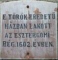 Esztergom török bég háza.JPG