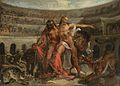 Eugène Delacroix (attr) Gladiatoren im Kolosseum.jpg