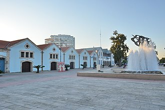 Larnaca - Europe's square with government buildings