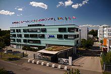 Neubau am Haupttor des ESOC-Geländes