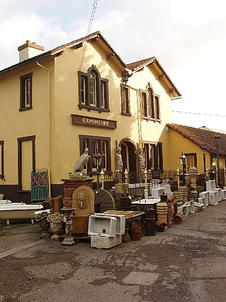 Disused railway stations on the Exeter to Plymouth Line - Exminster station is now an architectural salvage depot.