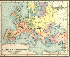 Western Europe - Image: Expansion of christianity