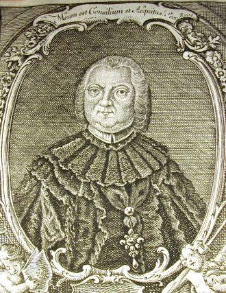 Heinrich von Bibra - Print from the Calendarium Parum Capituli Fuldensis