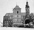 Fő tér (Hlavné namestie), Szent Erzsébet-főszékesegyház (Dóm), előtte az Orbán-torony. Fortepan 6192.jpg