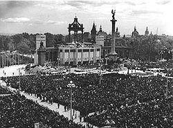34. Eucharisztikus világkongresszus1938, Budapest, Hősök tere