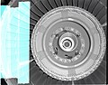 F-100 DOWNSTREAM END OF FAN AND FIRST STAGE ROTOR SECTION DAMAGE - NARA - 17449577.jpg