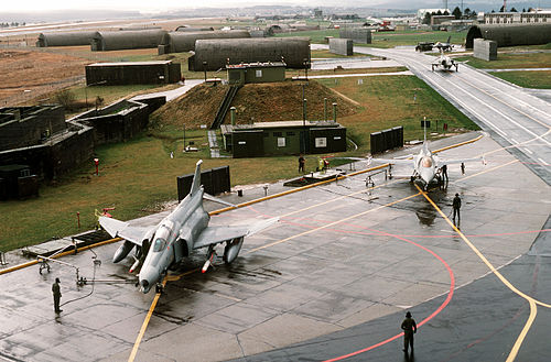 Part of USAF Spangdahlem Air Base in 1990 F-4G 81st TFS serviced at Spangdahlem 1990.JPEG
