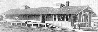 Florida East Coast Railway - The Florida East Coast Railway depot in Sebastian. The structure was built in 1893.