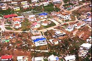 United States Virgin Islands - The aftermath of Hurricane Marilyn on the island of St. Thomas, 1995.