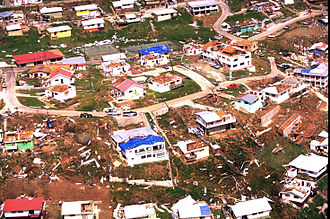 United States Virgin Islands - The aftermath of Hurricane Marilyn on the island of St. Thomas, 1995