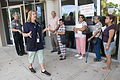 FEMA - 37487 - FEMA Worker talks to residents in Texas.jpg