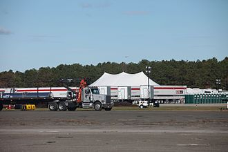 Brookhaven Airport - FEMA uses the airport as a staging area after Hurricane Sandy in 2012.
