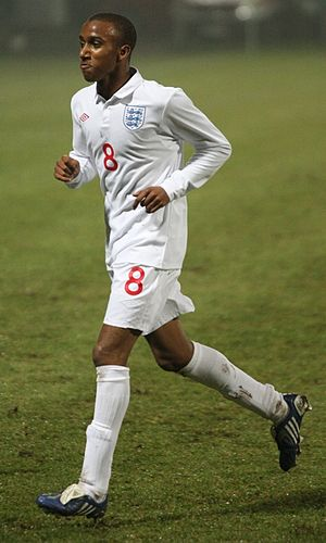 Fabian Delph - Delph playing for the England under-21 team in 2009