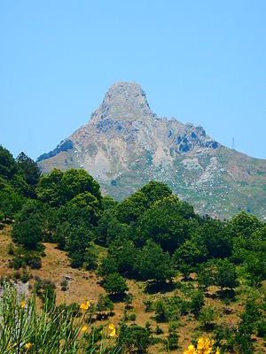 Province of Messina - the Rocca Salvatesta face from Fondachelli-Fantina town