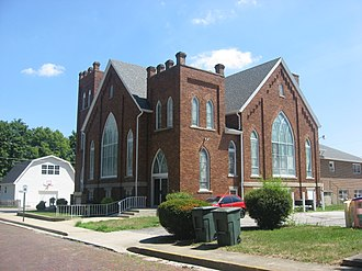 National Register of Historic Places listings in Grant County, Indiana - Image: Fairmount Wesleyan Church