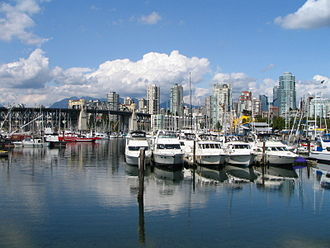 False Creek - False Creek between Granville Street Bridge and Burrard Street Bridge
