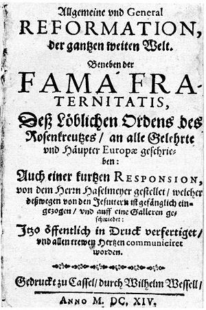 Fama Fraternitatis - First page of the Fama Fraternitatis, 1614