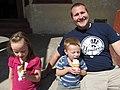 Family Eating Ice Cream, Oatman, Arizona (7280155642).jpg