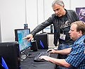 Feargus Urquhart and Sergey Orlovsky at E3 2013 (2).jpg