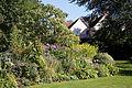 Feeringbury Manor shrub and flower border, Feering Essex England.jpg