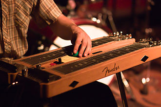 Steel guitar - Console steel guitar.
