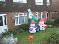 Festive inflatables in Fortunes Way - geograph.org.uk - 638097.jpg