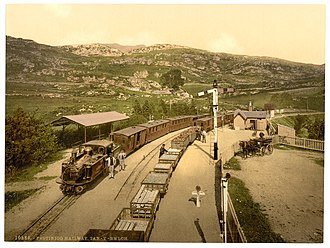 Tan-y-Bwlch railway station - Tan-y-Bwlch around 1900