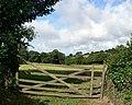 Field and gate, Kirthen Wood Farm - geograph.org.uk - 221527.jpg