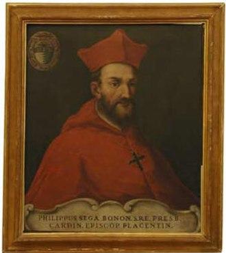 Cardinals created by Innocent IX - Filippo Sega (1537-96), made a cardinal on December 18, 1591.