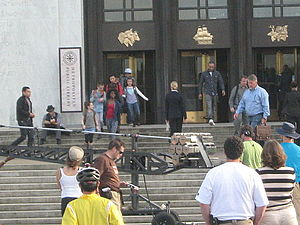 The Librarians (2014 TV series) - A scene for The Librarians being filmed at the Oregon State Capitol in Salem.