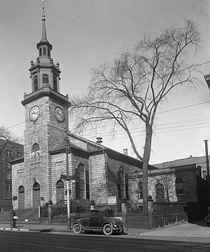 Congress Street (Portland, Maine) - Front of the First Parish Church, located at 425 Congress Street.